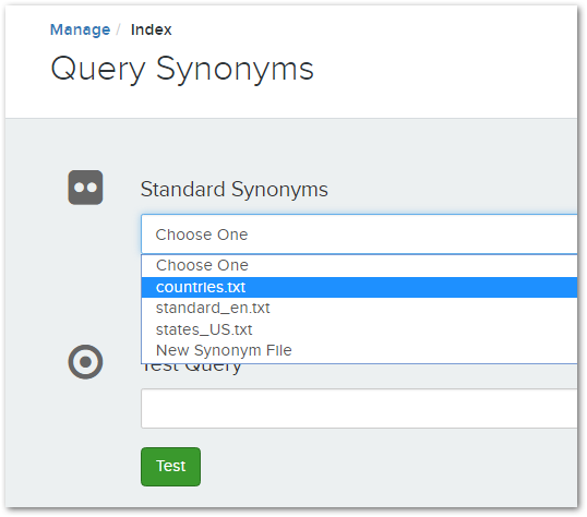 Query Synonyms – Voyager Search Support