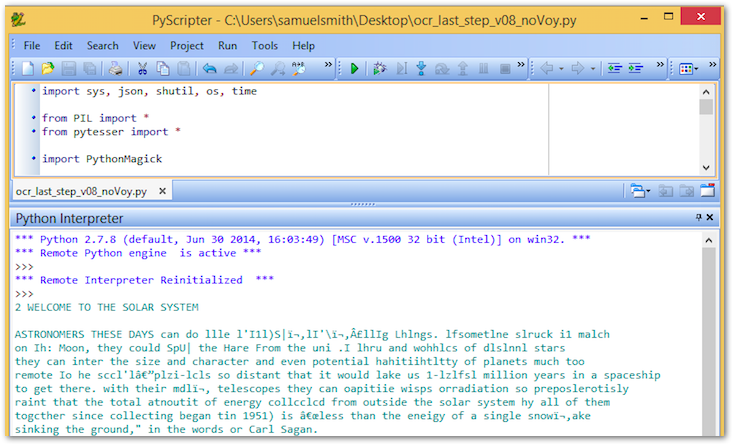 Configuring Optical Character Recognition (OCR)